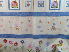cortina (val bordados e patch) Tags: flores cortina foundation cruz mao patchwork ponto livre bordado aplique sunbonet