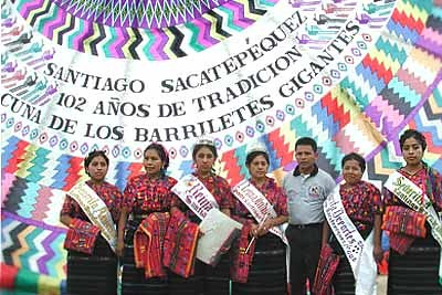 Maya women elected queens for the Day of the Dead celebrations
