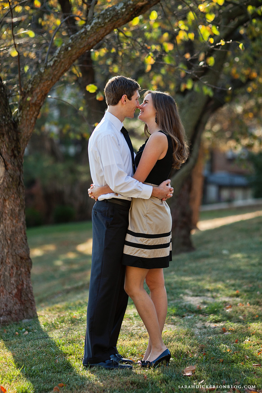 University of Kansas Lawrence engagement photographers