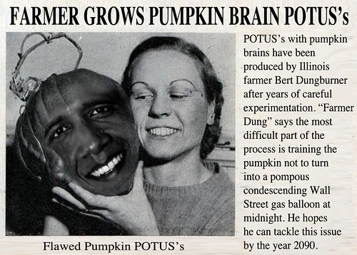 PUMPKIN POTUS NEWS CLIP by Colonel Flick