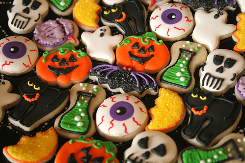 Mini Halloween Cookies.