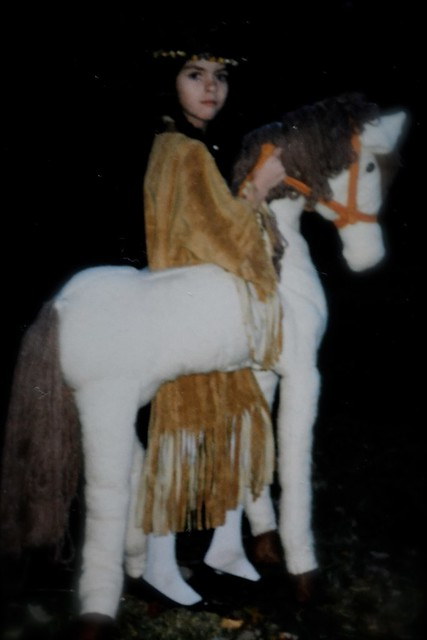 later mom crafted this magnificent horse to snaz up the old costume