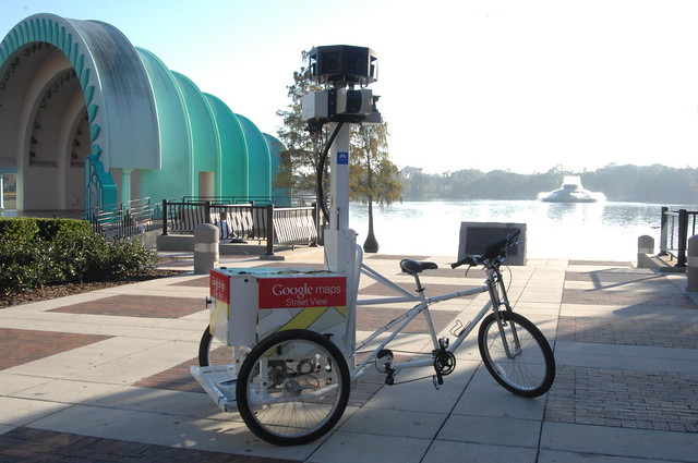 Google Tricycle at Lake Eola Park