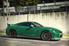 US-R35 (anType) Tags: green sports car japan matt dark japanese asia nissan flat exotic malaysia kualalumpur coupe supercar bluejackets matte sportscar v6 usarmy gtr solarisdutamas