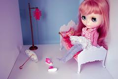 dorian in her bedroom