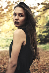 Gold (Greta Tu) Tags: autumn portrait inspiration fall fashion forest editorial greta gretatu