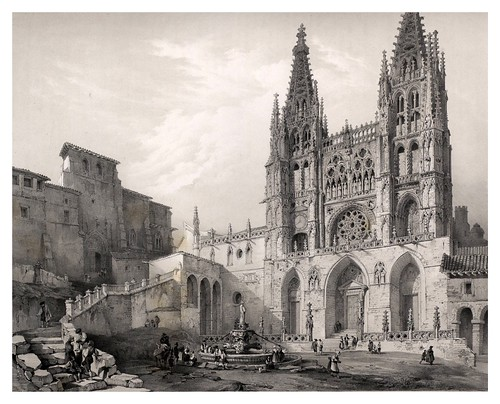 012-Catedral de Burgos.-España artística y monumental..Tomo II- 1842-1850-Genaro Perez de Villa-Amil