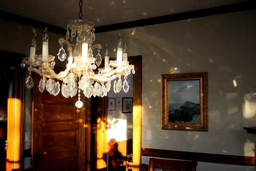 chandelier reflections