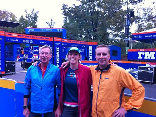 At the finish line of the New York Marathon