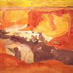 "<b>Tseyi Rim, Canyon de Chelly No. I</b><br/> Hampton (LC '80) (Watercolor on paper, 2007)<a href=""//farm7.static.flickr.com/6050/6312640824_1464e001d9_o.jpg"" title=""High res"">∝</a>"