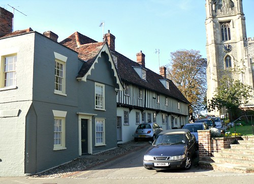 Old houses and church in Saffron Walden