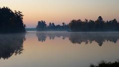 Still (yooperann) Tags: autumn lake fall sunrise reflections still bass michigan upper waters peninsula yooper