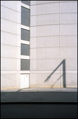 brutal shadow (purple camel) Tags: world plaza leica urban architecture 35mm silver hotel mine fuji centre modernism australia melbourne center victoria summicron convention pro fujifilm exit emergency trade 3000 msm brutalist brutal crowne 3008 unsensored 160c unsensored11