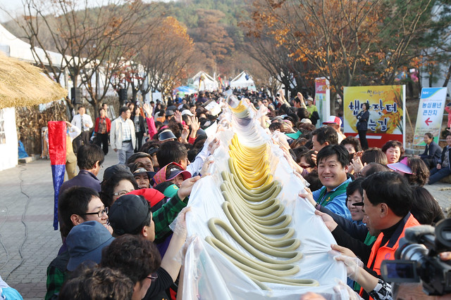 longest rice cake 'Garaetteok'  무지개가래떡만들기