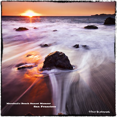 Marshall's Beach Sunset Moment San Francisco (davidyuweb) Tags: sanfrancisco california sunset usa color beach water san francisco rocks long exposure with 10 9 stop filter draw reverse moment marshalls sfbay sfist gnd dblringexcellence tplringexcellence eltringexcellence