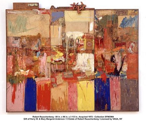 Robert Rauschenberg - 80 in. x 96 in. x 3 1/2 in.- Acquired 1972 by artimageslibrary
