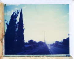 Litchfield Park, AZ (moominsean) Tags: sunset arizona polaroid desert 195 litchfieldpark type108 expired012000
