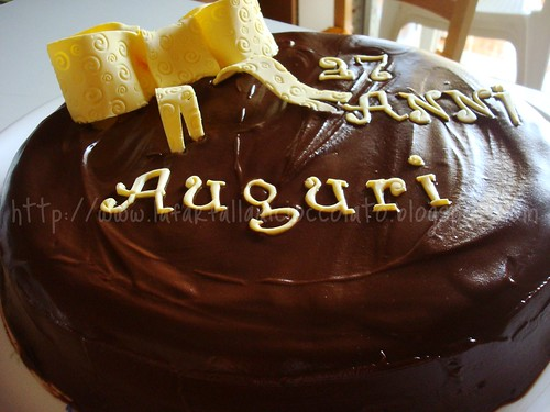 Torta Al cioccolato per compleanno Angelo