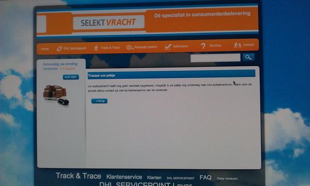 #ZALANDO biedt track en trace maar #selektvracht geeft geen resultaat. Beetje #fail