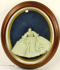170. Victorian Doll in Shadowbox Frame