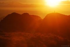 for a morning like this (.:: Maya ::.) Tags: light orange mountain standing sunrise top glory human balkan magestic