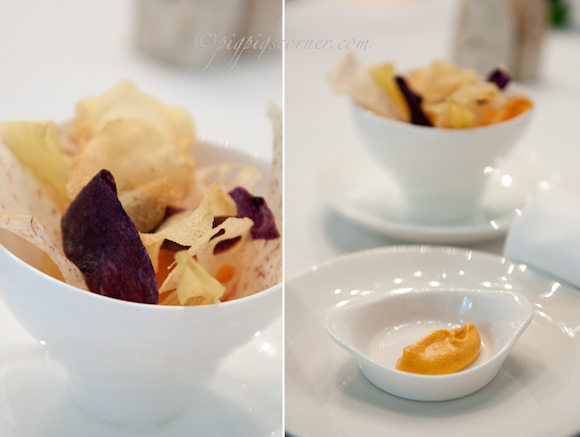 Santi @ Marina Bay Sands, Singapore - vegetable chips