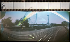 that f****** ferris wheel (steven -l-l-l- monteau) Tags: longexposure 2 bw sun color slr film analog 35mm pose fun soleil diy long exposure place bordeaux fair nb pinhole homemade strip ferriswheel week steven fte maison lente funfair ricoh couleur tls chemical foraine granderoue argentique appareil lll the chimie oneyearlater pellicule twoweeks semaines stnop sunchaser photopaper quinconces monteau singlex photographicpaper faitmaison poselente papierphoto sunchasers deuxsemaines bordeauxcub solargraph solarographe solargraphs unanplustard stevenmonteau thesunchasers solarographes