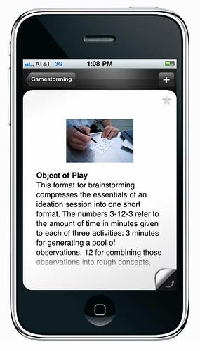 Gamestorming iPhone app