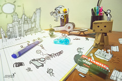 The Last Battle (achew *Bokehmon*) Tags: wallpaper cute castle pen table book war gun dragon stickman eraser spear danbo danboard