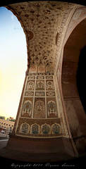 Through the Entranceway (яızωαи) Tags: pakistan panorama architecture artwork arch patterns muslim details main entrance dome za lahore f28 masjid ssm islamic badshahimasjid مسجد mughal 1635mm zilhajj لاہور thebadshahimosque widescape variosonnart281635 بادشاہی