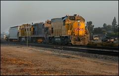 The CM Job Building Their Train (greenthumb_38) Tags: railroad morning train earlymorning trains unionpacific locomotive anaheim sled gp switcher wye emd gp151 canon40d westanaheim jeffreybass loa32 costamesajob remotesled anheimwye loa25 loa32r