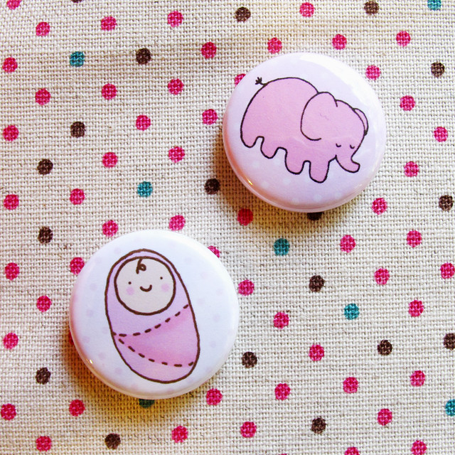 Baby girl buttons.