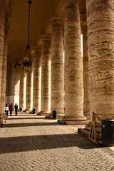 Vaticano (aebphoto) Tags: italy pope vatican rome church lines architecture canon europe honeymoon shadows columns sigma arches structure vaticano repetition stpetersbasilica vaticancity romeitaly sigma18200os rebelxsi basilicapapaledisanpietro