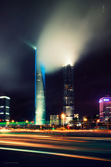 / a Cloud of Smoke (blackstation) Tags: street windows light cloud building window glass lines skyline night clouds photoshop canon buildings reflections lens photography photo office nice long exposure cityscape shanghai pano air magic chinese ps professional v daytime    citylandscape   jinmaotower skyscaper    swfc shanghaicity 2011       shanghaiworldfinancialcenter   5d2 blackstation eos5dmarkii wangdong wwwblackstationcom