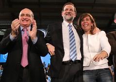 Jorge Fernández, Mariano Rajoy y Alícia Sánchez-Camacho