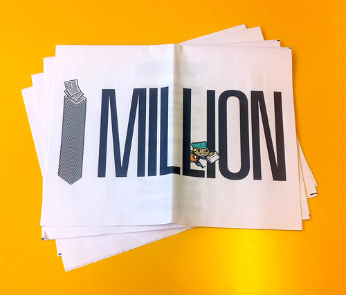 We've printed one million newspapers