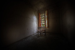 lier psychiatric hospital  ::   ( explore ) (andre govia.) Tags: building abandoned window norway hospital dark chair andre block ward asylum derelict psychiatric lier govia