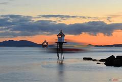 Fjord Crossing (bent inge) Tags: lighthouse norway ferry strand norge tide tau fjords rogaland ferge r13 hurtigbt norwegianfjord fyrlykt bentingeask
