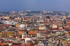 Elevated view of Naples, Italy (**Anik Messier**) Tags: italy holiday architecture europe cityscape campani