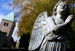 Stone_angel (Voss-Nilsen) Tags: travel oslo norway buildings dark religious death norge stones cemetaries religion norden churches og countries angels thumb nordic middle scandinavia grav ages gravstein engler the tro stlandet geografi gravsten kirker graver skandinavia bygninger dd gravlund middelalderen belives middelalder dden oslobilder reiseliv gudshus gravsteiner gravstener gravlunder