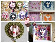 Lembranças (Andreza Muniz) Tags: art arte handmade pano craft fuxico decora yoyo tecido quadrinhos divino lembrancinhas