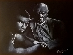Young boxer and soon to be World Champion, Mike Tyson and trainer Cus D'Amato (fitzjim) Tags: portrait man male sports muscles closeup tattoo portraits movie intense artist lasvegas drawing pigeon pigeons rollerderby drawings hangover ring american charcoal knockout mao bite africanamerican movies actor halloffame punch workout edhelms disqualified wwe hof cheguevara signed autographed chairmanmao miketyson evanderholyfield heathergraham undisputed realityshow abdulaziz arthurashe zachgalifianakis autographappearance reformschool titlebelts jimfitzpatrick thehangover inducted worldchampionboxer daysofgrace 1984summerolympics hangover2 bradlycooper sfbaybombers cusdamato thehangoverii mancavememorabilia bitingoffpartofear lakihaspicer wwehalloffameclassof2012 cusdamatoboxingmanagerandtrainer tysondocumentary youngestfighter fieldofdreamspowerfulcaesars palacemalik barthajeffrey tambormike tysonworld championfighter youngmiketyson