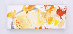 Hitoyasumi  (2012) Oil on canvas, pastel, coloured pencil 310x135x40mm (mayakonakamura) Tags: house garden painting tokyo afternoon egg sunny courtyard canvas oil chicks hen nakamura mayako soloshow theneighborhood semiabstract echoann
