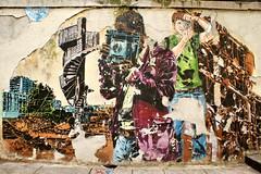 Janaundjs (dprezat) Tags: street urban paris art painting stencil tag graf peinture jana js bombe pochoir aérosol sonyalpha700 janaundjs janajs lézardsdelabièvre