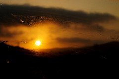 Smudge Set (Doom64) Tags: california road sky orange mountains film wet clouds dark star coast drops los san pix fuji bright fine smudge dirty valley finepix fujifilm luis morrobay sanluisobispo obispo losososvalleyroad osos hs20 cloudsstormssunsetssunrises hs20exr
