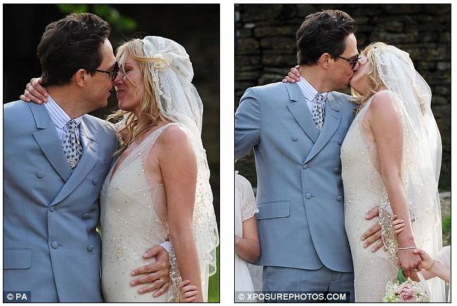 Mrs Rock Chick now! Beaming Kate Moss gets hitched to Jamie Hince with daughter Lila among the 15 bridesmaids  3