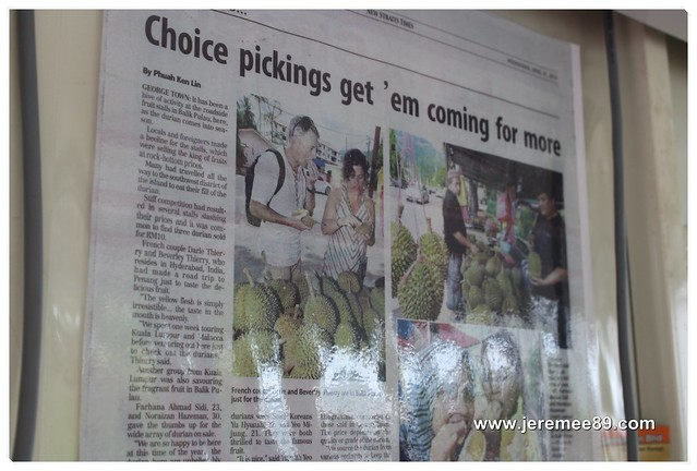 Pesta Durian @ Balik Pulau - Newspaper Cutting