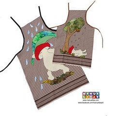 Apron / Delantal (Manualitas) Tags: mushroom handmade craft apron patchwork artesania setas bolets delantal manualidad davantal
