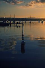 Valentine (Leighton Wallis) Tags: sunset reflection boats yacht australia valentine nsw ripples lakemacquarie