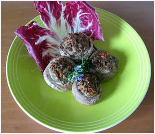 Funghi ripieni di carne